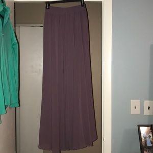melansay Skirts - NWT Melansay lilac flowy delicate long skirt.